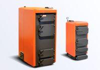 Оранжевый котёл на твёрдом топливе