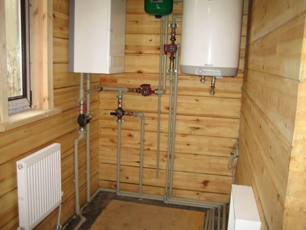 Бойлеры и радиаторы отопления в деревянном доме