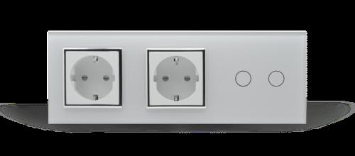 двойная розетка и сенсорный выключатель