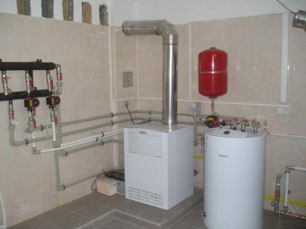 Отопительный газовый котёл в частном доме