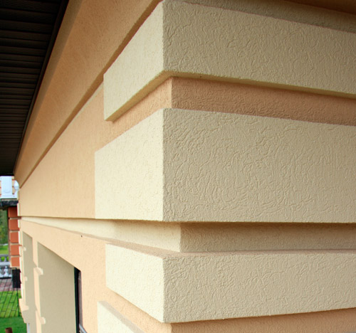 Фасад дома из пеноблоков отделка