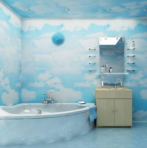 Ванная комната обшитая пластиковым панелями