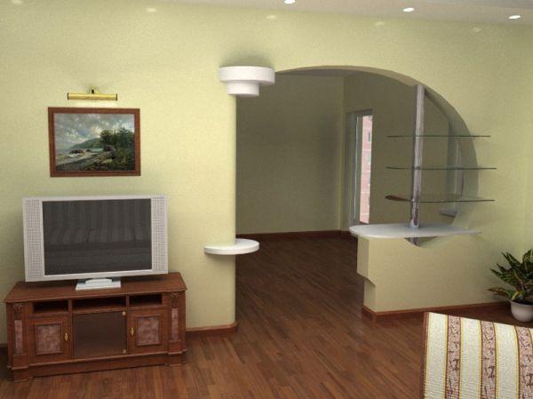 Декоративная межкомнатная перегородка в комнате