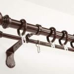 Карнизы с кольцами и крючками