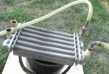 Теплообменник газ. котла (очистка)